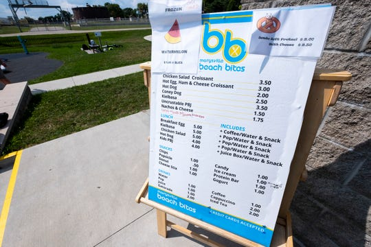 Beach Bites has opened in the concessions stand at Chrysler Beach in Marysville, and will remain open until Labor Day.