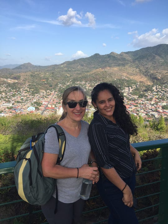 Artists for Soup Executive Director Judith Nichols, left, and Program Director Elioena Arauz are shown in Matagalpa, Nicaragua.