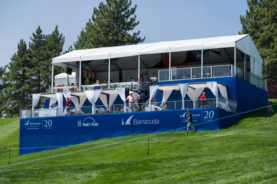 At the 2019 Barracuda Championship, tickets to the Tito's Terrace, shown here in 2018, include two drinks made with popular Tito's Homemade Vodka.