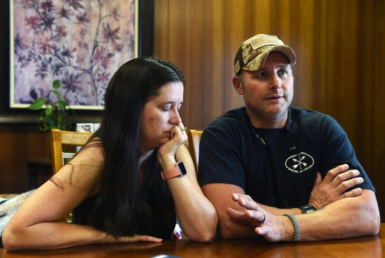 Wendy and Mitch Hammond talk with the RGJ about the loss of their daughter Lizzy during a visit to the Ross, Burke & Knobel Mortuary in Reno on July 24, 2019.