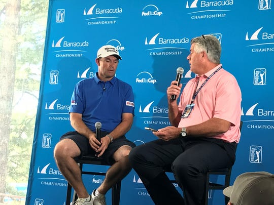 Padraig Harrington is competing in The Barracuda Championship this week at Montreux.