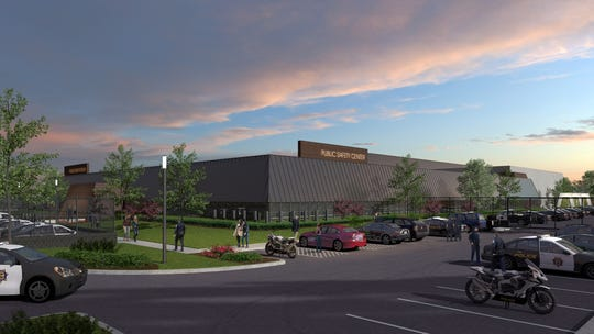 An artist's rendering of the Reno Police Department's planned public safety center at the RGJ building, 955 Kuenzli St. in Reno.