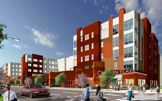 Downtown Reno's first student housing complex to open by Fall 2020. One amenity? Hot tubs