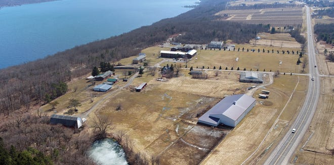 Freedom Village along the west shore of Seneca Lake is now closed. This iPhoto made by a drone is looking south along NY-14.