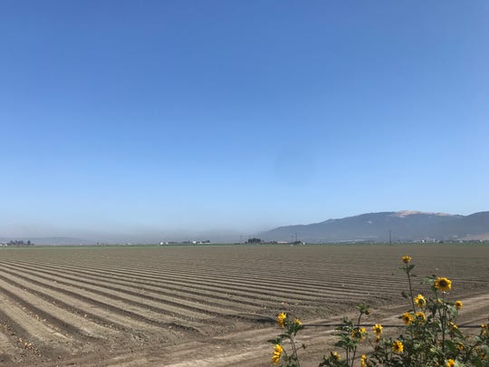 Smoke rose from the Marina, California area Wednesday afternoon, drifting into the Salinas Valley. July 24, 2019.