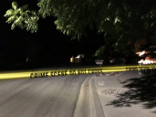 Authorities investigate an officer-involved shooting on Estoque Place July 23, 2019.