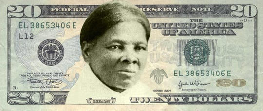 A mock-up of a Harriet Tubman $20 bill provided by Women on 20s, a non-profit, grassroots organization working to put a woman's face on the Unites States $20 banknote.