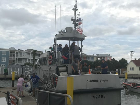 U. S. Coast Guard Station Chincoteague welcomes visitors to its open house on Tuesday, July 23, 2019 in Chincoteague, Virginia.
