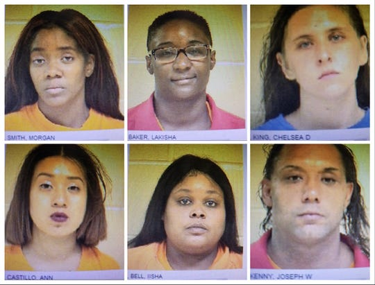 From top left, clockwise: Morgan Smith, Lakisha Baker, Chelsea King, Joseph Kenny, Iisha Bell and Ann Castillo.