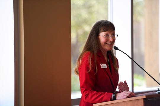 Vice President and Dean of USD Community College for Sioux Falls Carmen Simone speaks about her vision for the upcoming school year, Wednesday, July 24.