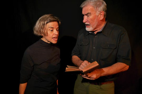 "Emmy Tancsics as Judge Danforth and Marshall Singletary as Rev. Hale pit dogma against decency in ""The Crucible,"" showing this weekend in Thomasville, Georgia."