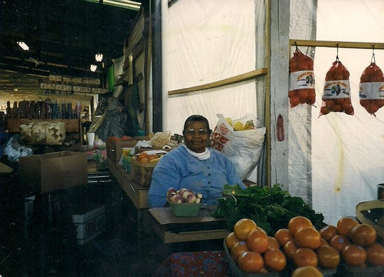 An undated photo of Ruby Freeman at her produce stand.