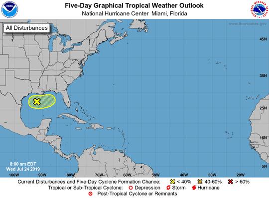 Tropical disturbance 8 a.m. July 24, 2019