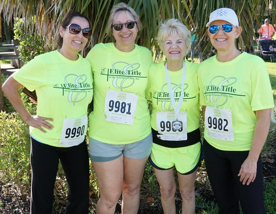 Teresa Graham, left, Michelle Carbano, Darlene Pegg and Sheila Milton recently participated in the 10th annual Habitat 5K, where $6,088 was raised for Habitat for Humanity of Indian River County.