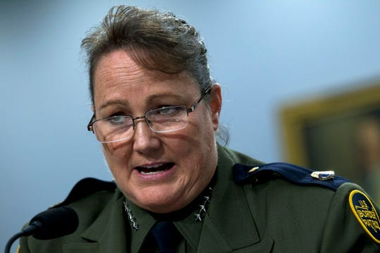 U.S. Border Patrol chief Carla Provost testifies before a House Appropriations subcommittee hearing on Capitol Hill in Washington, Wednesday, July 24, 2019.