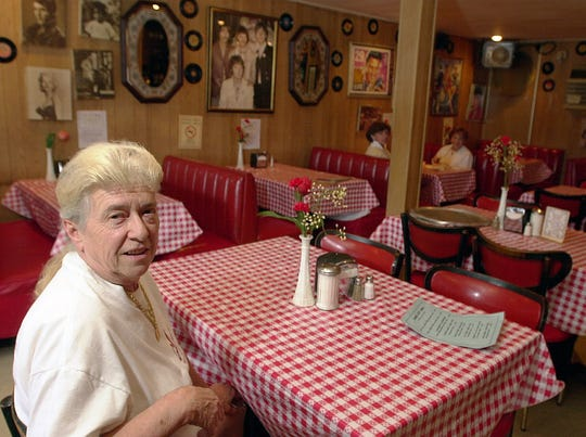 2002 file photo: Annie Ciabattoni of Annie's Restaurant, a family-run business on Route 9W in Stony Point.