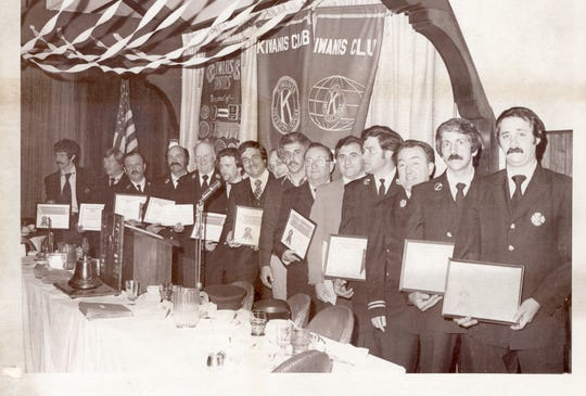 The late Frank Smith Jr, the last proprietor; Mount Vernon firefighters honored at a Mt. Vernon Kiwanis meeting at The Knolls Inn in Mount Vernon.