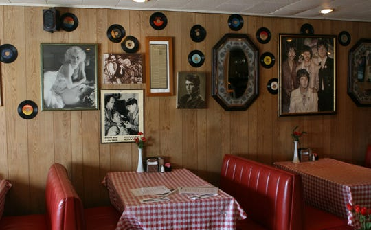 File photo 2007: The walls of Annie's Restaurant in Stony Point are covered with nostalgic items.