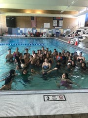 Students learning to swim through White Plains' Jump in and Swim program, which provides free swim and water safety instruction.