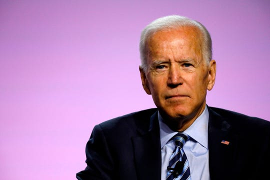 Democratic 2020 presidential candidate Joe Biden  addresses the Presidential Forum at the NAACP's 110th National Convention at Cobo Center on July 24, 2019, in Detroit.