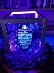 Data crystal that Christopher Robinson used in his marriage proposal for Amanda Knox. Photo courtesy of Amanda Knox and Christopher Robinson.