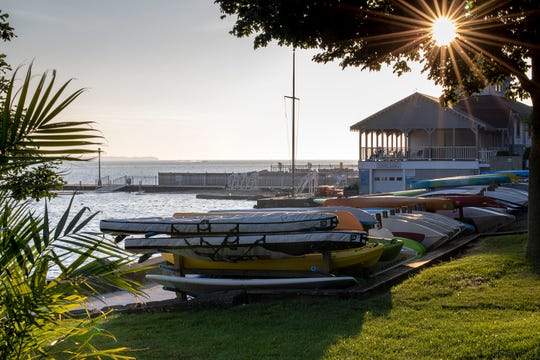 The morning sun shines over the shores of Lake Erie, signaling a new day at Lakeside, where boating is surely on the agenda. Recreation is one of the four pillars of chautauqua communities. The others are religion, education and cultural arts.