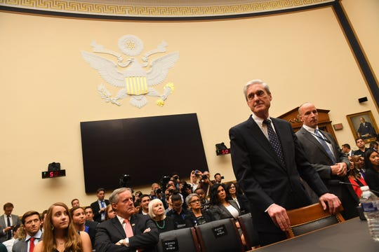 "Former Special Counsel Robert S. Mueller, III arrives for the House Intelligence Committee hearing on the 'Investigation into Russian Interference in the 2016 Presidential Election.' Mueller, who investigated alleged Russian interference during the 2016 presidential election, said in May that his report ""speaks for itself.""--"