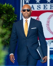 Former New York Yankees closer Mariano Rivera was inducted into the National Baseball Hall of Fame as the first player to be unanimously elected.