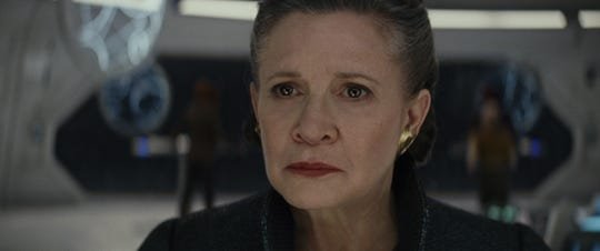 """Carrie Fisher as General Leia in """"Star Wars: The Last Jedi"""""""