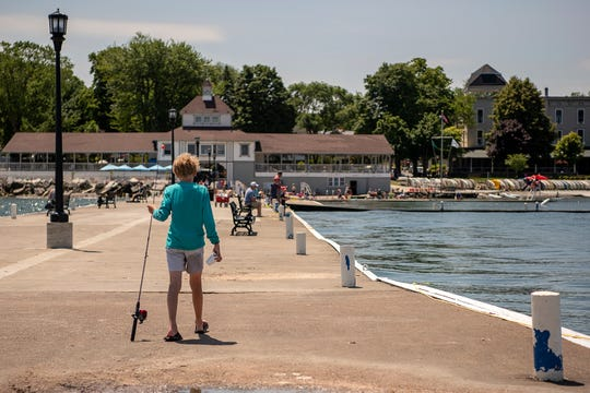 Fishing off the pier is a favorite pastime at Lakeside, where you're likely to catch a yellow perch or smallmouth bass, as well as a suntan.