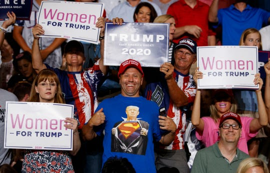 President Donald Trump's rally in Greenville, North Carolina on July 17, 2019.