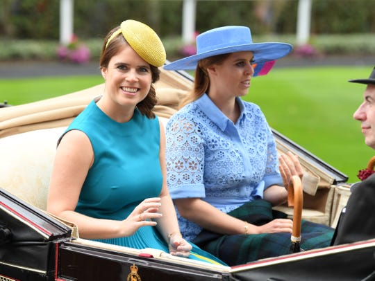 Princess Eugenie of York and Princess Beatrice of York at Royal Ascot on June 18, 2019 in Ascot, England.