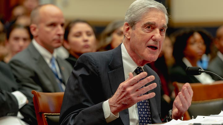 Former special counsel Robert Mueller testifies on July 24, 2019.