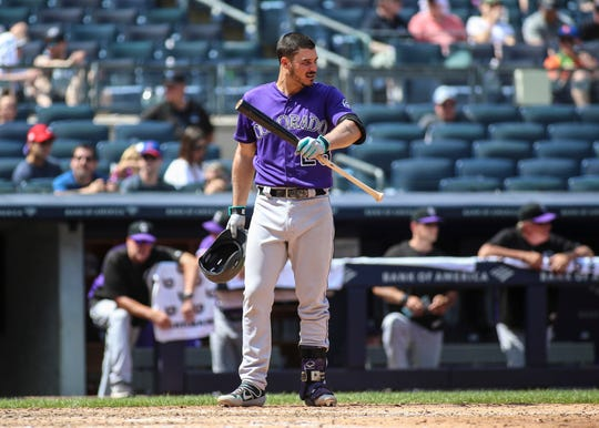 Nolan Arenado during a Sunday game.