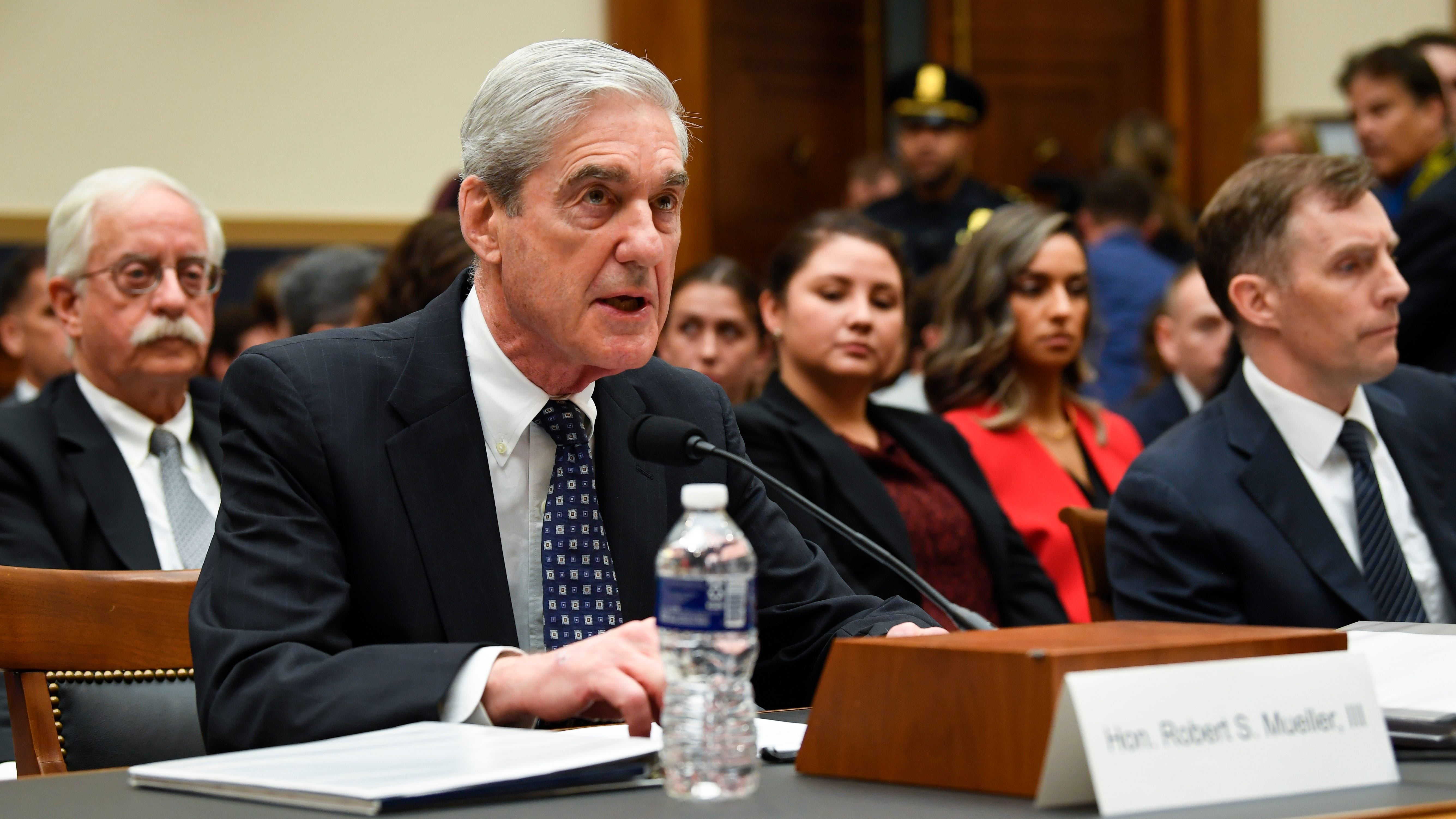 Former Special Counsel Robert S. Mueller testifies to House Judiciary Committee on 'Oversight of the Report on the Investigation into Russian Interference in the 2016 Presidential Election.' Mueller, who investigated alleged Russian interference during the 2016 presidential election, said in May that his report 'speaks for itself.'