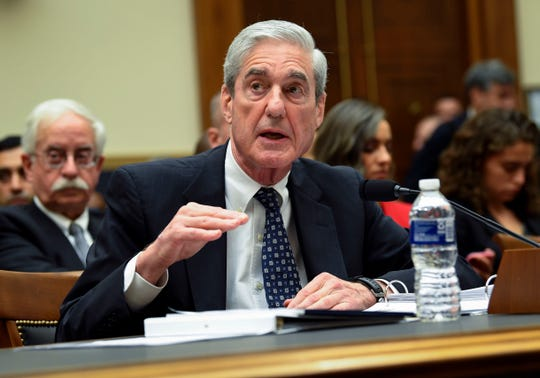 Robert Mueller testifies for the House Intelligence Committee.