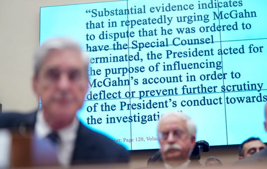 Former special counsel Robert Mueller kept his answers curt and concise.