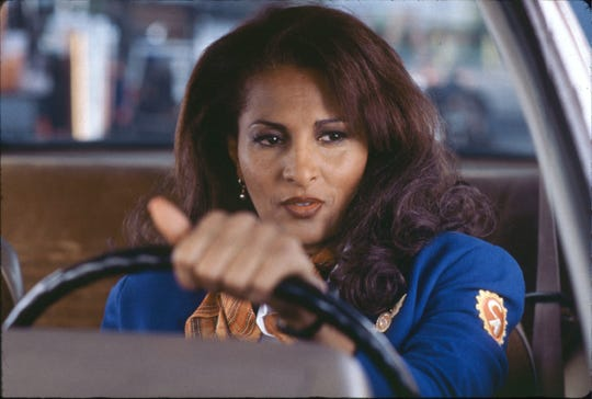 "Pam Grier is a flight attendant and part-time smuggler in ""Jackie Brown."""