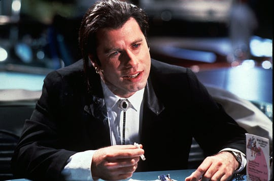 "Playing gangster Vincent Vega in ""Pulp Fiction"" was a career comeback for John Travolta."