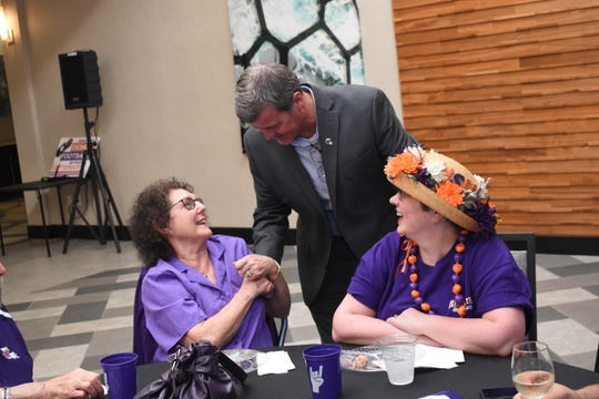 The nine-city NSU Victory Tour 2019 was held Wednesday, July 24, 2019 at the Holiday Inn in downtown Alexandria. Northwestern State University Demons head football coach Brad Laird, NSU athletic director and other coaches and administrators were on hand to talk with fans about the upcoming football season. The tour started in New Orleans and will end in McKinney, Texas, on Saturday.