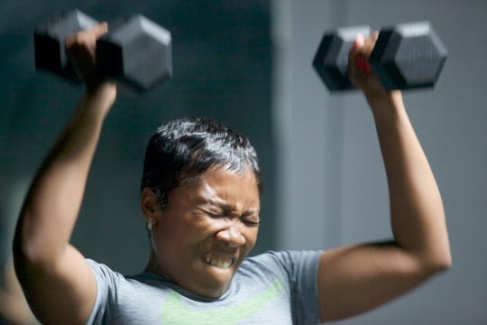 Erica Hicks is working out to pass the physical test to be a New Jersey cop.