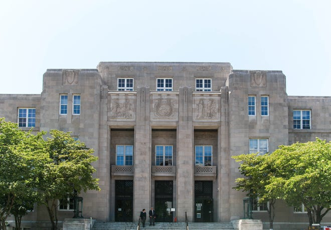 The federal court house on Otis Street