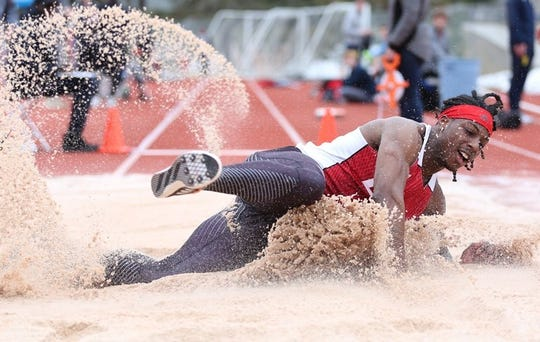 Keshun McGee was one of four track and field athletes to qualify for the 2019 NCAA championships in both the long jump and triple jump.