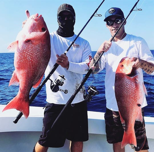Red snapper fishing in deeper water yielded a larger average weight of fish this year. Red snapper must be released until the next mini-season in 2020. Dates have yet to be announced.