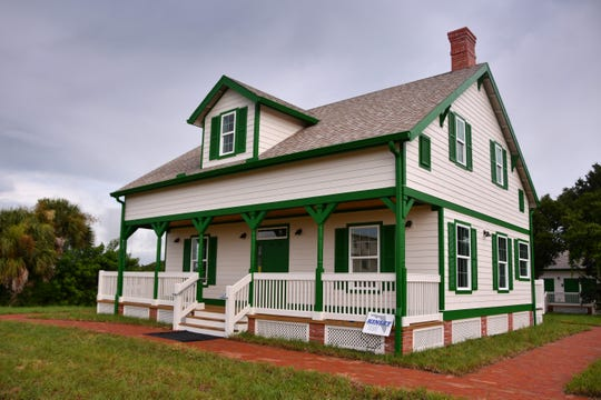 The Cape Canaveral Lighthouse Foundation unveiled their new addition of an authentic replica of the lighthouse keeper's cottage - built to present day code- near the base of the lighthouse.