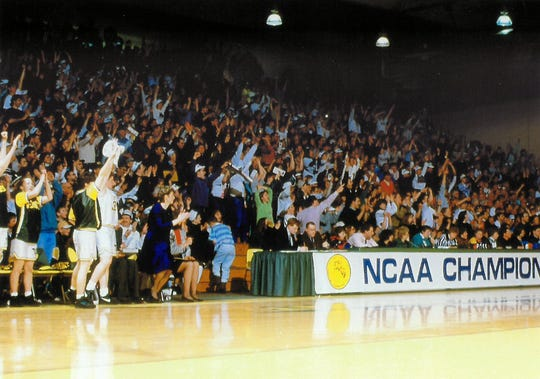 Cathy Inglese and UVM women's basketball hosted Rutgers in the opening round of the 1993 NCAA Tournament.