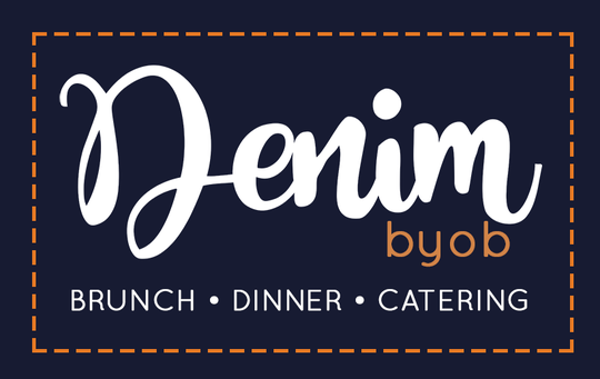The new logo for Denim BYOB. The restaurant's brand will change when it relocates to Haddonfield.