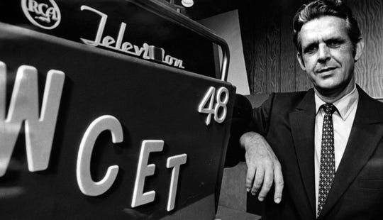 JULY 21, 1970: Charles Vaughan, president and general manager of WCET, Channel 48.