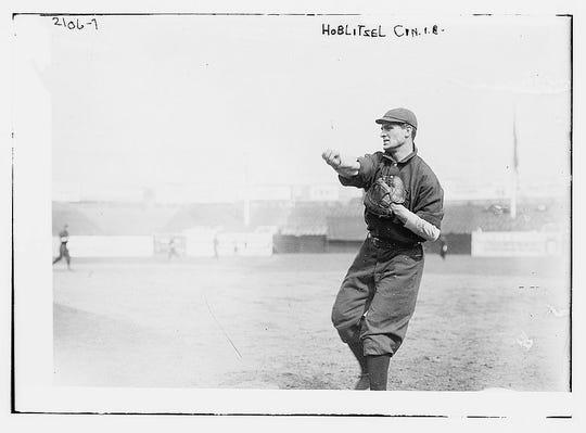 Dick Hoblitzell, first base, Cincinnati Reds, 1908-1914. Photo c. 1911.