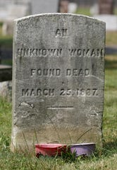 Grave of the unknown woman at Rahway Cemetery